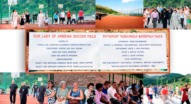 A soccer field at the Our Lady of Armenia Summer Camp in Tsaghgadzor