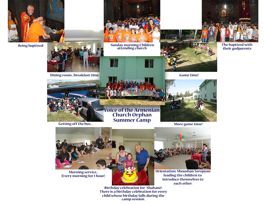 $6000 was given to support the Voice of the Armenian Church (VOTAC) Orphan Summer Camp