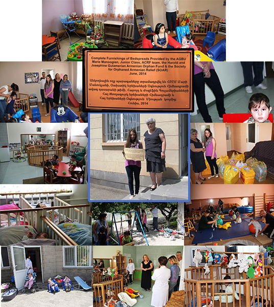 Children's Home of Gyumri orphanage received complete furnishings of bedspreads