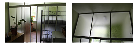 Infirmary room dividers for Mer Hooys Orphanage