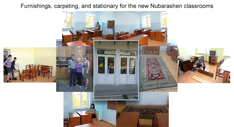 Furnishings, carpeting, and stationary for the new Nubarashen classrooms