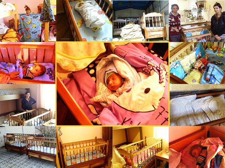 Furniture, bed linen, pillows, and blankets for Zatik Orphanage