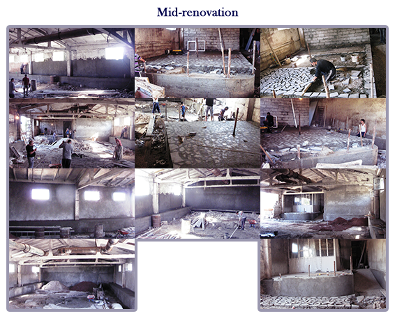 Mid construction of a hippotherapy arena at Kharberd Orphanage