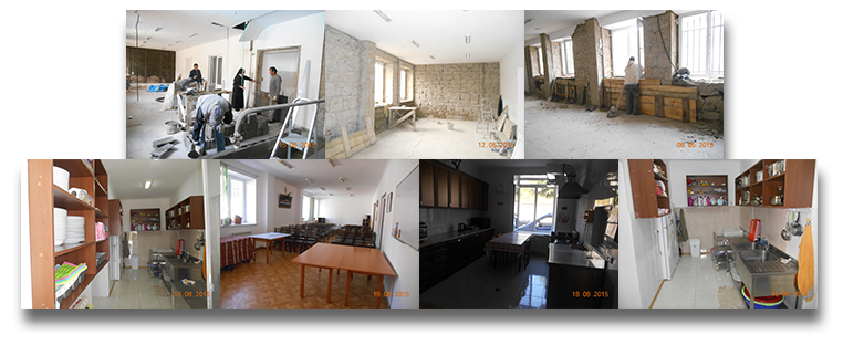 Kitchen and dining room renovations progress and completion, OLA-Tashir