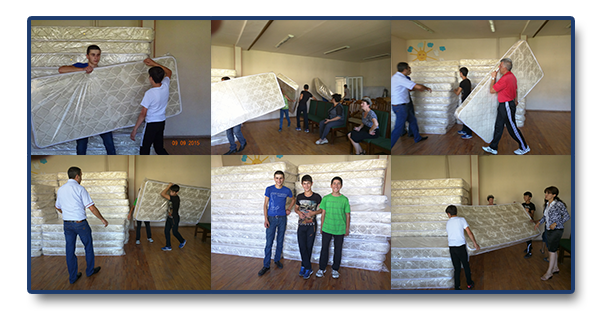 61 new mattresses for Vanadzor Orphanage