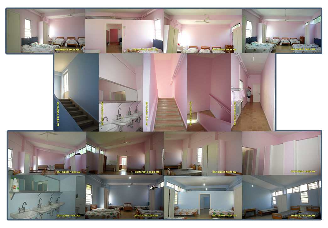 Progress on renovation of bedrooms at Birds' Nest Orphanage that began in June