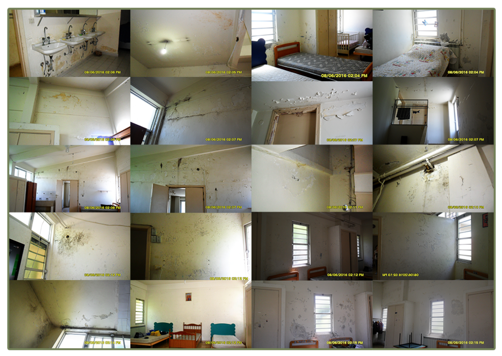 Pre renovation of bedrooms at Birds' Nest Orphanage