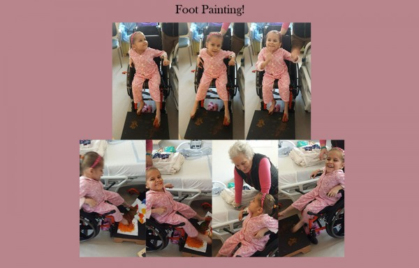 Lilit foot painting therapy