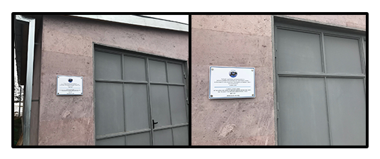 Idjevan storage building constructed last year-plaques