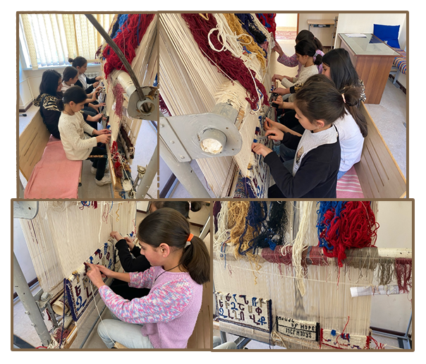 Six months of carpet weaving classes for the girls at Naghasyan Children's Support Center (formerly Mer Hooys) funded by the Gulamerian Fund