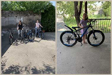 New bikes for girls at the SOAR Transitional Center