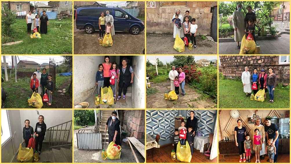 Food distributions for OLA Tashir