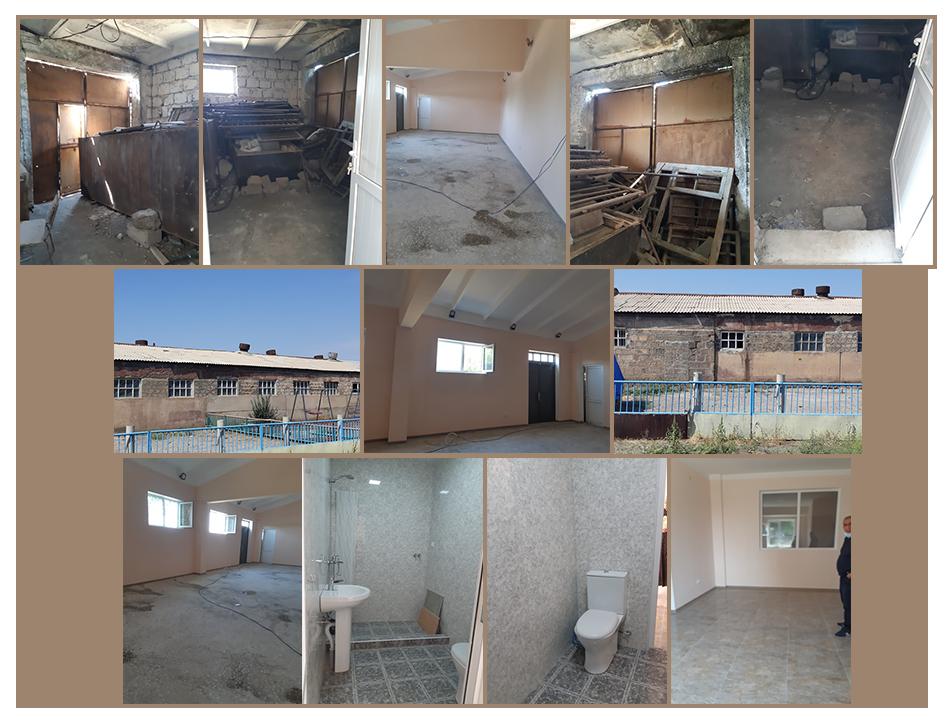 Wood shop renovations at Kharberd Orphanage