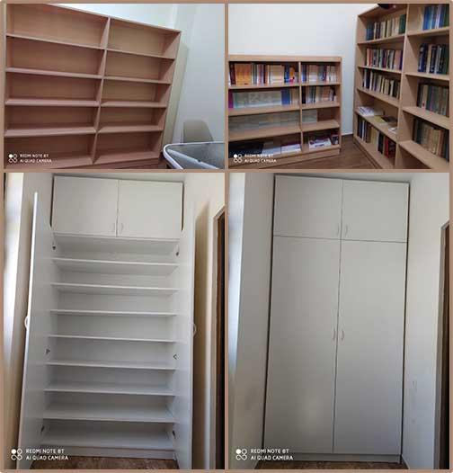 Bookshelves and show closets for OLA Kanaker