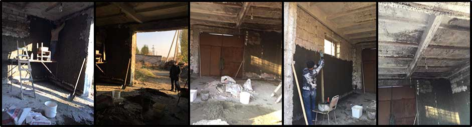 Extension to wood shop at Kharberd Orphanage