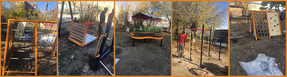 All inclusive playground for Zadik Orphanage