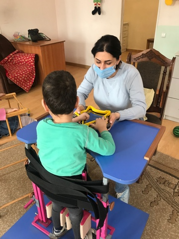 Music therapy at Nork Orphanage