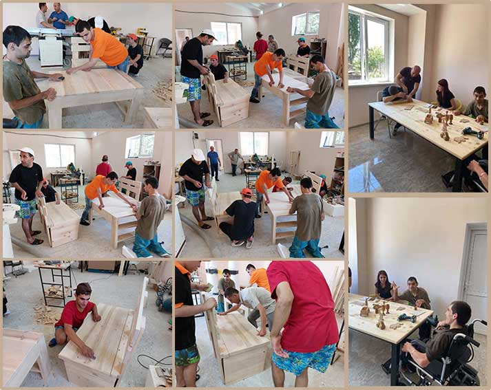 Working away at the new Kharberd Woodshop!