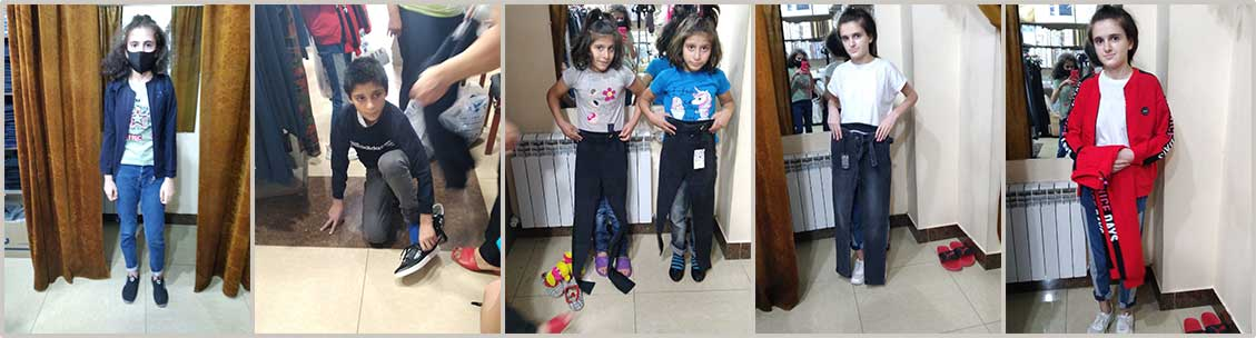 Displaced children from Artsakh still living at a boarding school in Gyumri received new clothing and shoes