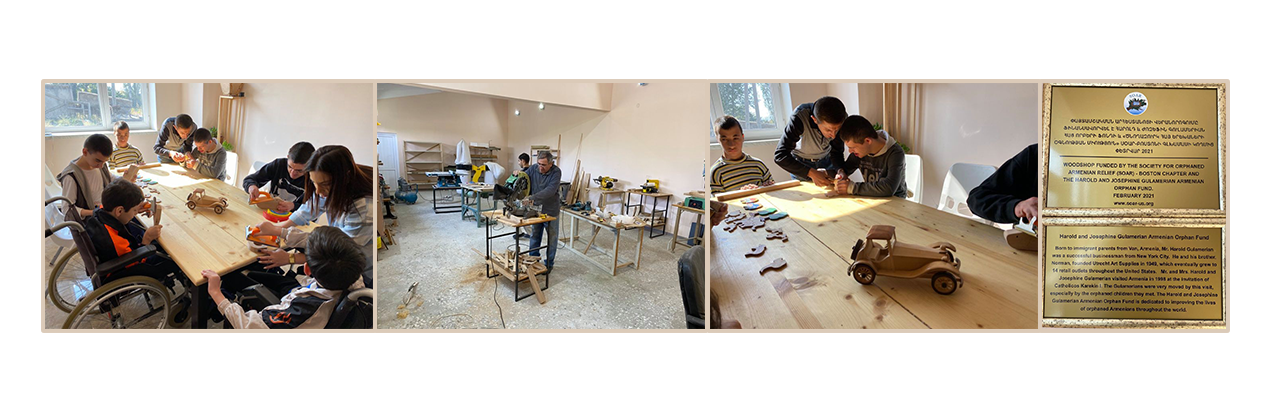 The new Kharberd woodshop in use